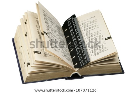 The English-Russian dictionary it is isolated on a white background - stock photo