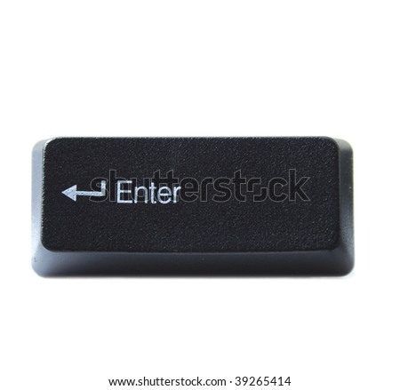 The Enter key from a black computer keyboard - stock photo