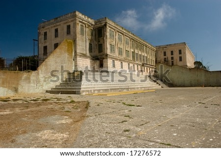 The entire Alcatraz Island was listed on the National Register of Historic Places - stock photo