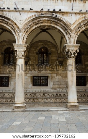 The Entrance To The Rector's Palace In Dubrovnik, Croatia