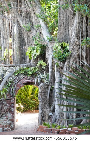 The Entrance To The Southernmost Botanical Garden In The United States (Key  West, Florida