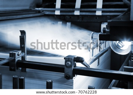 The equipment for a printing in a modern printing house