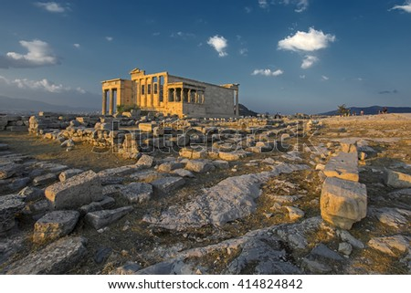 The Erechtheion on the Acropolis in Athens, Greece, 406 BC