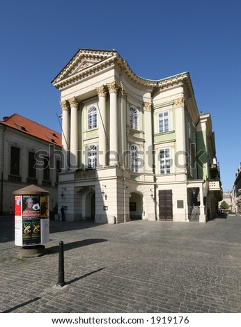 The Estates Theatre or Stavovské divadlo is the original theatre in Prague where Wolfgang Amadeus Mozart himself conducted the world premiere of his Don Giovanni in 1787.