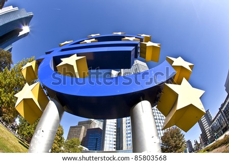 The European Central Bank (ECB) on a sunny day, Frankfurt am Main, Germany
