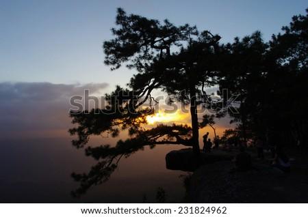 the evening sky - stock photo