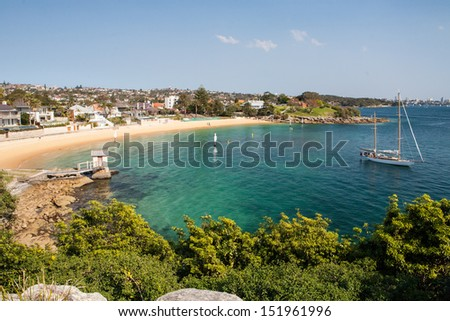 The exclusive Camp Cove near Watson's Bay in Sydney, Australia - stock photo