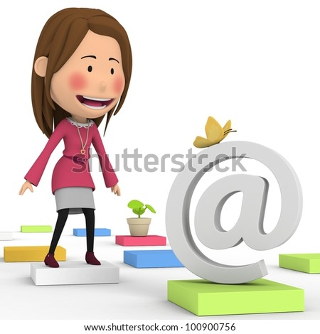 The expected e-mail - stock photo