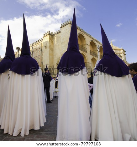 The extraordinarily  Christian procession of the Semana Santa (Holy Week) in Andalusia, Spain.