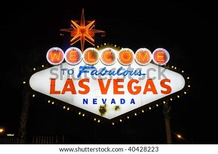 The Fabulous Las Vegas sign - stock photo