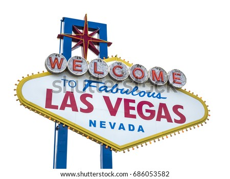 Vegas sign stock images royalty free images vectors shutterstock the fabulous welcome las vegas sign isolated on white background pronofoot35fo Choice Image