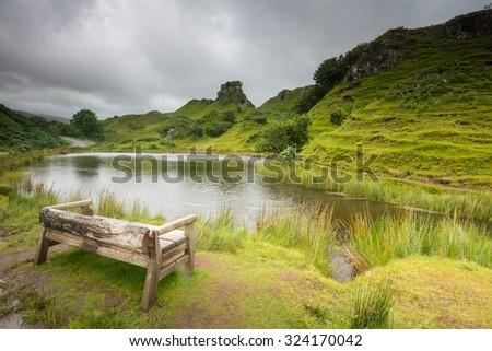 The Fairy Glen on Isle of Skye, Scotland - stock photo