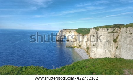 the falaise of Etretat, Normandie,France