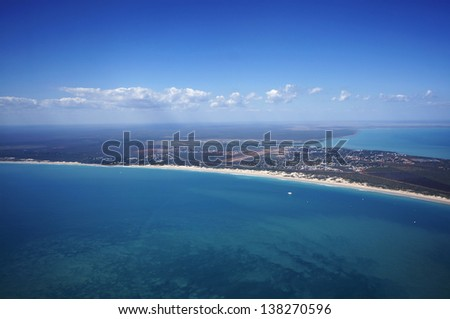 The famed Cable Beach in Broome, Western Australia during the warm winter. - stock photo