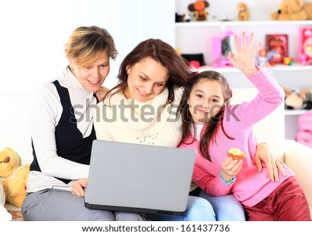 The family of a laptop. - stock photo