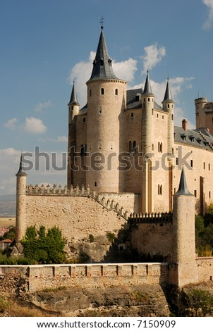 The famous Alcazar of Segovia, Spain