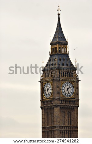 "The famous and iconic British clock tower ""Big Ben"" - stock photo"