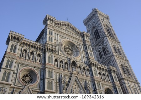 The famous basilica of santa maria del fiore florence - stock photo