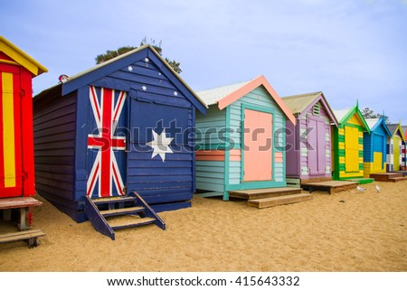 The famous beach house at Brighton Beach, Melbourne, Australia