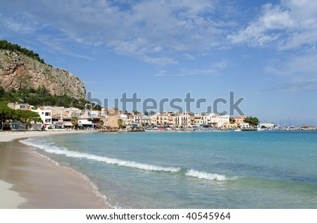"The famous beach of ""Mondello"" in Sicily"