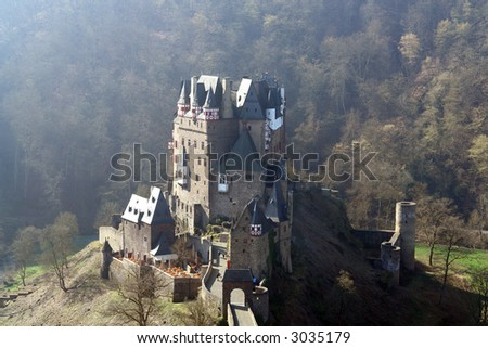 The famous Burg Eltz in the Eifel in Germany - stock photo