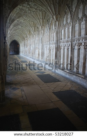 the famous Cloister in Gloucester Cathedral, England (United Kingdom) - stock photo
