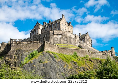 The famous Edinburgh castle, Scotland - stock photo