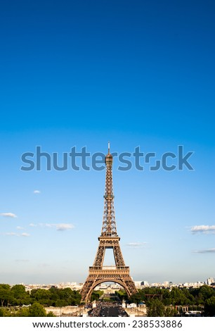 the famous eiffel tower in Paris - stock photo