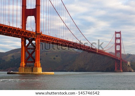The famous Golden Gate Bridge in San Francisco California USA - stock photo