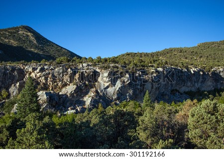 The famous Gray Cliffs in Great Basin National Park - stock photo
