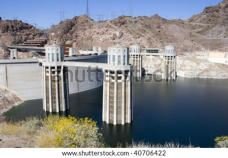 The famous Hoover Dam, Usa. - stock photo