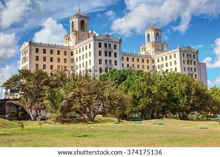 the famous Hotel Nacional. Cuba, Havana - stock photo