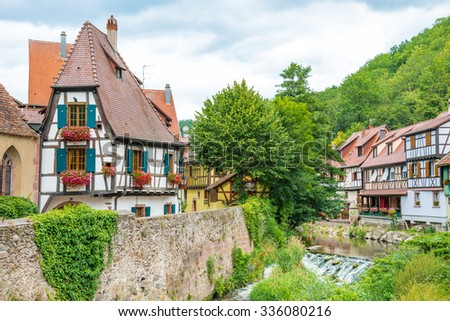 The famous idyllic Wine Village of Kaysersberg in Alsace near Colmar,France