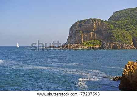The famous Knysna Heads in South Africa - stock photo
