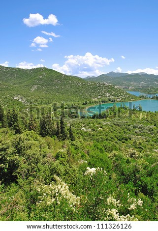 the famous Lakes of Bacinska near Ploce,Dalmatia,Croatia