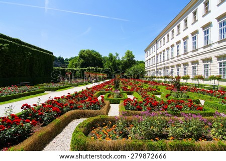 The famous Mirabell Palace in Salzburg, Austria, Europe.  - stock photo