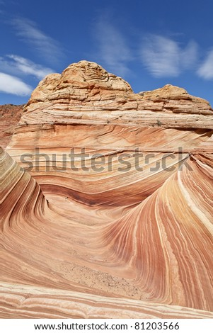 The famous rock formation in the  Paria Canyon-Vermilion Cliffs Wilderness, Arizona, USA - stock photo