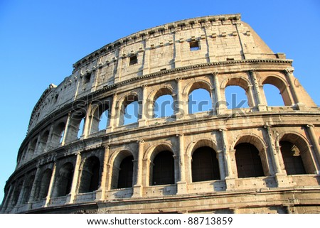 The famous Roman Colosseum in Italy