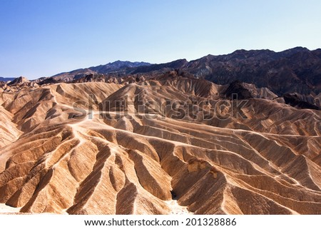 The famous Zabriskie Point, Death Valley in California