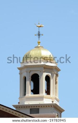 The Faneuil Hall Grasshopper Weather-vane, a historic landmark in Boston, Massachusetts. - stock photo