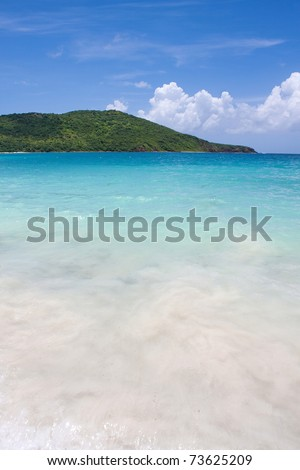 The far eastern shore across from Flamenco beach on the beautiful Puerto Rican island of Culebra. - stock photo