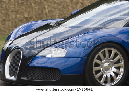 The fastest road car in the world - stock photo