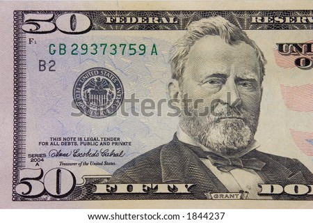 The fifty dollars banknote macro - stock photo