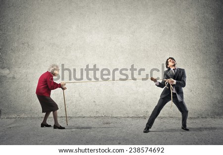 The fight - stock photo