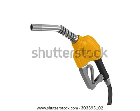 The filling gun. 3d render on white background - stock photo