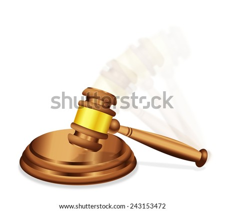 The Final Decision Verdict or Judgment - stock photo