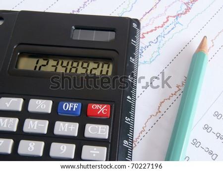 The financial analysis - stock photo