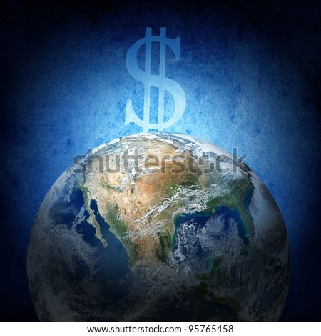 The financial concept (Earth image from www.nasa.gov) - stock photo