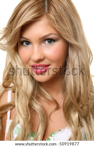 The fine woman - stock photo