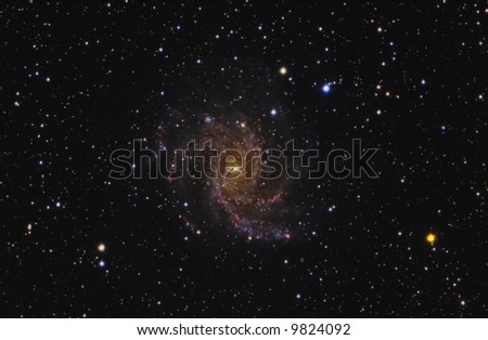The Fireworks Galaxy - stock photo